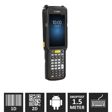 "Zebra MC3300 M/ 2D 45º (SE4750-SR 1D/2D), NFC, Kamera, 38 Taster, ""Premium Plus"""