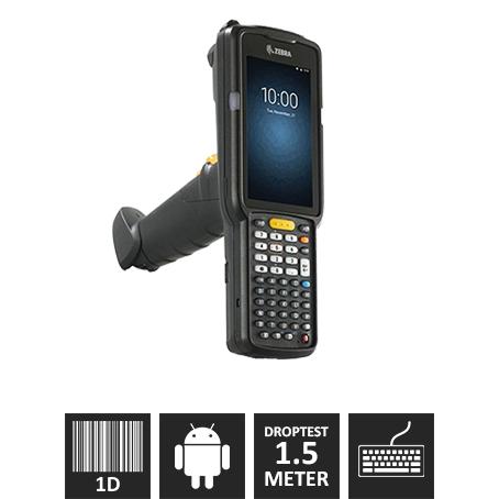 "Zebra MC3300 M/ Pistolgreb, 1D Laser (SE965-SR), 47 Taster, ""Premium"""