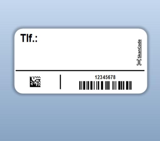 Serienummer label til Covid-19 selvpodning